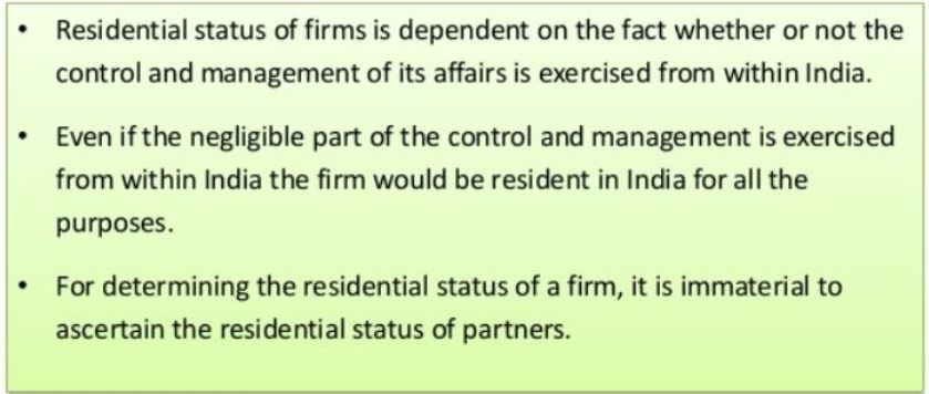 Residential Status of Firm or Association of Person or Company2